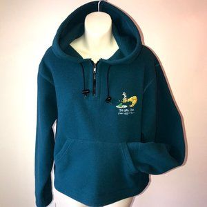 Women's Teal Blue Dr. Seuss Fleece 1/4 Zip